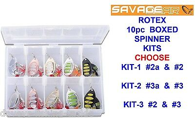 Savage Gear Rotex Spinner Box Kit Game Coarse Fishing Salmon Trout Pike Lures