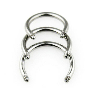 Piercing Horse Shoes 1,6mm Circular Barbell without Balls Ear Lips Septum