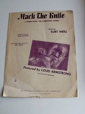 Mack The Knife sheet music Featuring Louis Armstrong