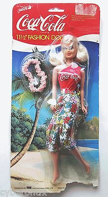 """1999 Coca Cola Fashion Doll Set NEW in Package 4020 Barbie Size BBI Toys 11.5"""""""
