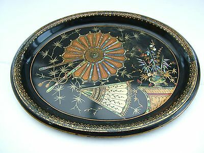 Rare 19th C Toleware Japanned Trademan's Sample Tray Aesthetic Small Size