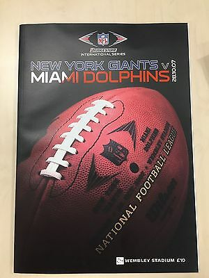 Giants Vs Dolphins NFL International Series Official Programme 28-10-2007