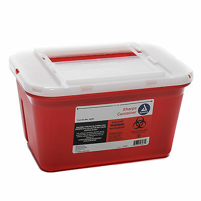 Sharps Container Red 1 Gallon Slide Lid Each