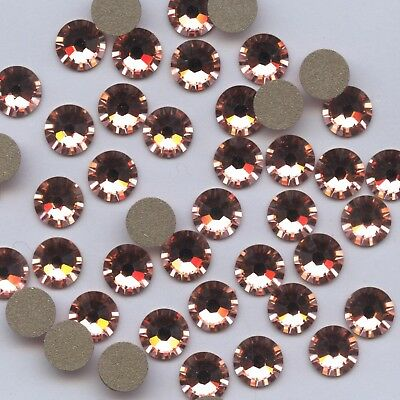 2058 SS30 RP *** 10 STRASS SWAROVSKI FOND PLAT 6,4mm  ROSE PEACH F