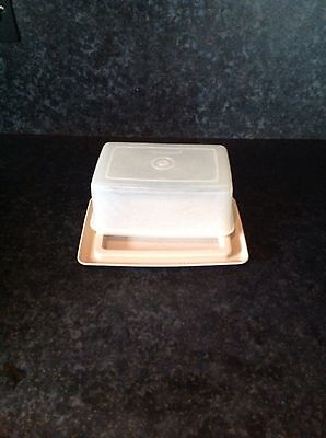 Vintage retro tupperware butter cheese dish