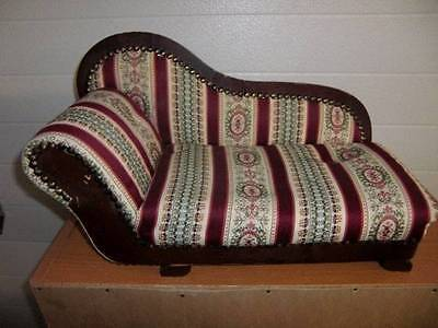 "American Heirloom Collections ~ Doll Sofa Chaise Lounge Chair for 16-18"" Dolls"