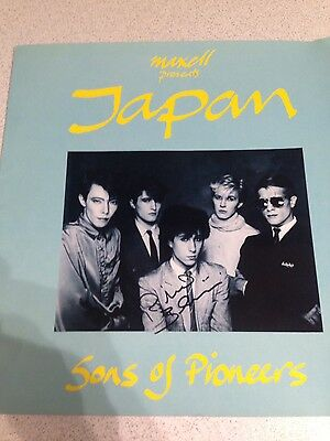 Japan (David Sylvian) 1982 Sons Of Pioneers Tour Programme SIGNED BY BARBIERI