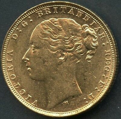 Great Britain 1878  One  Gold Sovereign Contains .2354  Ounces Of Pure Gold