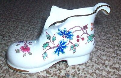 Hammersley Fine Bone China. Small Floral Boot.