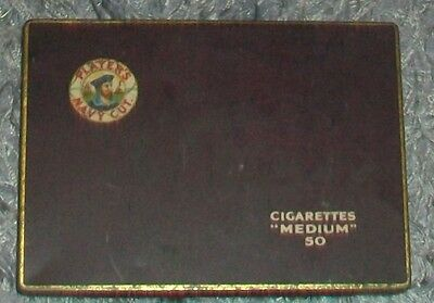 Vintage Players Navy Cut Cigarettes Medium 50 Collectable Tin  A/f