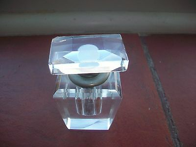 Vintage Glass Perfume/Scent Bottle with Metal Collar with Built in Dipper(5th)