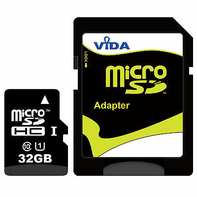 Fast UHS-1 32GB Micro SD SDHC Memory Card For Samsung Galaxy A3 (2016) (2017) A5