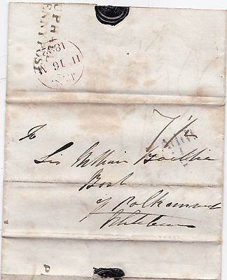 1832 Midlothian Pre-Stamp - Uphall Penny Post Wrapper To Whitburn