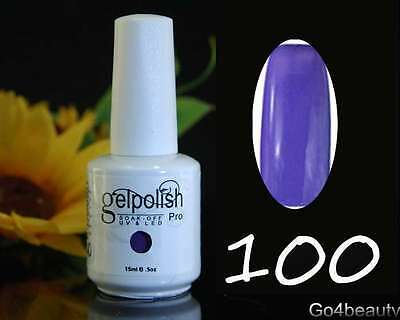 Soak-off UV LED Gel Polish Manicure Kit Long Lasting 15ml w/ Free Gift - #100
