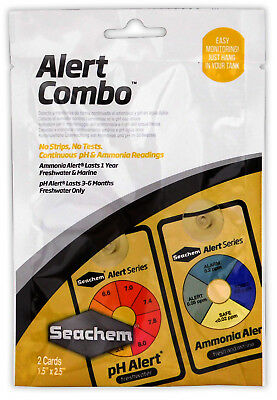 SEACHEM ALERT COMBO pH & AMMONIA MONITOR CONTINUOUS WATER TEST AQUARIUM FISH