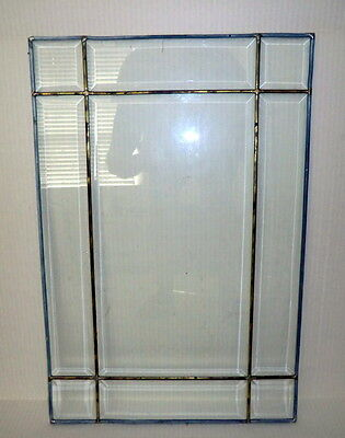 Beveled Leaded Stained Glass Window 15.25 X 24.62""