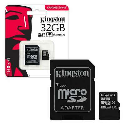 KINGSTON MicroSD SDHC Memory Card 32GB  Class 10 with Adapter 32 gb