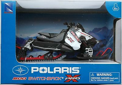 NewRay - Polaris 800 Switchback Pro-X Snowmobile weiß 1:16 Neu/OVP