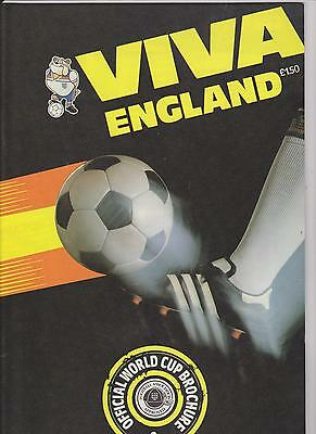 Viva England Official F.a. Approved 1982 World Cup Brochure 48 A4 Pages