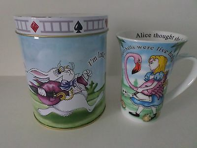 Cardew 2010 ALICE IN WONDERLAND I'M LATE 14 OZ, MUG, COASTER AND TIN SET NEW