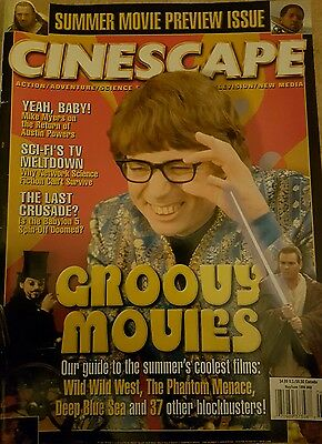 CINESCAPE MAGAZINE Austin Powers COver and Wild Wild West  May / June1999