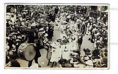 Old Postcard Wellinborough Feast Day Procession Northants Real Photo Used 1912