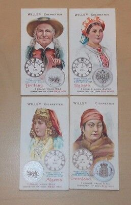 cigarette cards WILLS TIME & MONEY IN DIFFERENT COUNTRIES LOT B