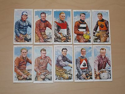 cigarette cards PLAYERS SPEEDWAY RIDERS LOT B
