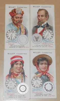 cigarette cards WILLS TIME & MONEY IN DIFFERENT COUNTRIES LOT G