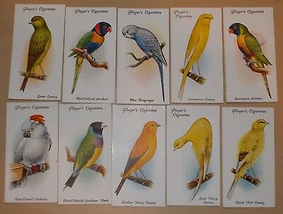 cigarette cards PLAYERS AVIARY AND CAGE BIRDS LOT A