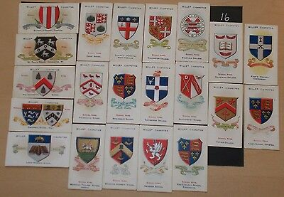cigarette cards WILLS SCHOOL ARMS