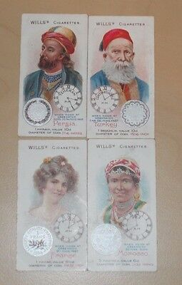 cigarette cards WILLS TIME & MONEY IN DIFFERENT COUNTRIES LOT D