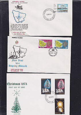 047468 Norfolk Island  FDC First Day Cover`s - Lot