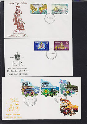 047473 Norfolk Island  FDC First Day Cover`s - Lot