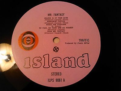 Traffic - Mr Fantasy Lp / Uk 1St Press Stereo Pink Island Ilps 9061 Dave Mason