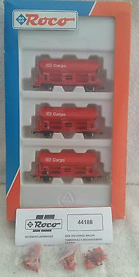 Roco ho 44188 db set of 3 side discharge wagons. Sealed parts/accessories