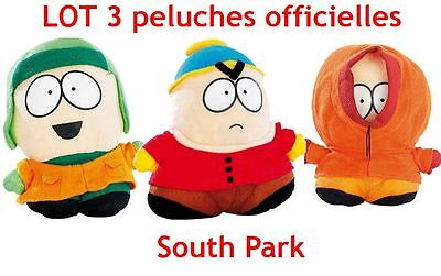 Lot 3 peluches South park  peluches Cartman Kenny & Kyle south park plush lot