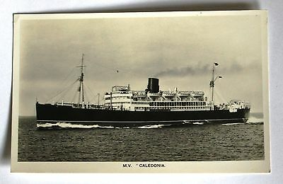 Unused Real Photograph Postcard of M.V. Caledonia