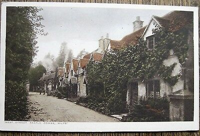 West Street, Castle Combe, Wiltshire.  Old Postcard.