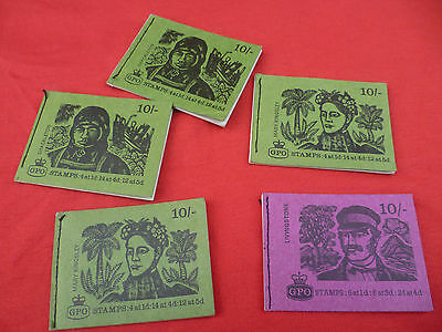 5 Used Books Of Vintage 1968/69 Stamp booklets From The GPO