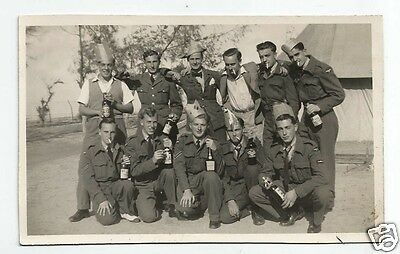 "FJZ 1948 Military Postcard sized Photo showing 11 Named Soldiers ""E.U.A.S. BODS"""