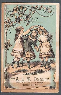 Original 1900's J.&C. Bell Montreal Boots & Shoes Store Advertising Trade Card