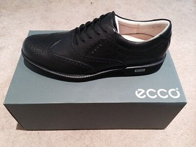 ECCO GENTS TOUR HYBRID GOLF SHOES Colour BLACK/BRICK Size EU 43 UK 9  NEW
