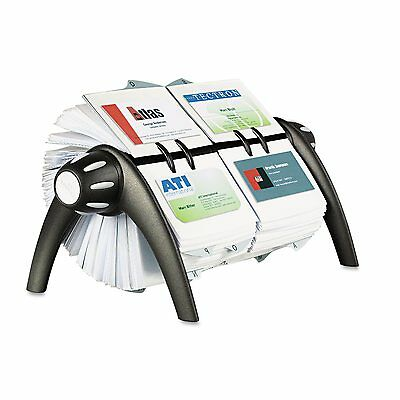 Durable VISIFIX Duo Rotary Business/Address File Holds 800 4 1/8 x 2 7/8 Cards B