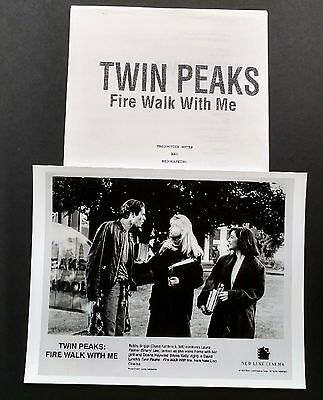 Twin Peaks Fwwm Uk Press Kit Production & Biographies Package