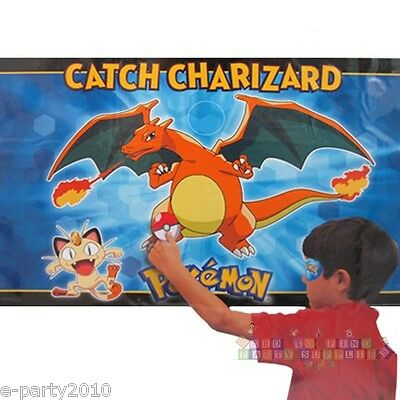 POKEMON Pikachu & Friends PARTY GAME POSTER ~ Birthday Supplies Decorations