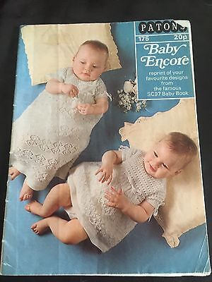 Vintage Patons Encore  Book knitting for babies & toddlers 22 Designs No 175