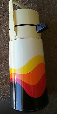 Vintage 2 Liter THERMOS 2647 TOUCH Air Pump pot COFFEE 2647 GREAT GRAPHICS