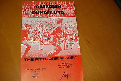 Aberdeen V Dundee United                                                 15/3/80