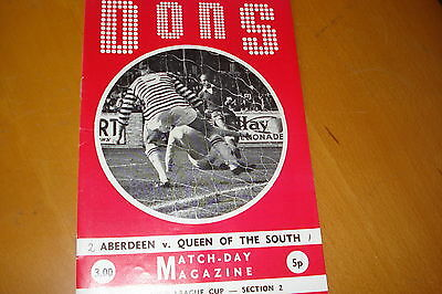 Aberdeen V Queen Of The South                 League Cup                 26/8/72